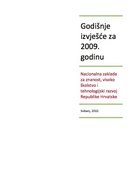 Godišnje izvješće za 2009.